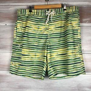 IZOD Men's Striped Swim Trunks Striped shorts xxl